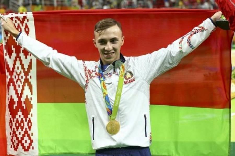 Владислав Гончаров занял первое место волимпийских соревнованиях попрыжкам набатуте
