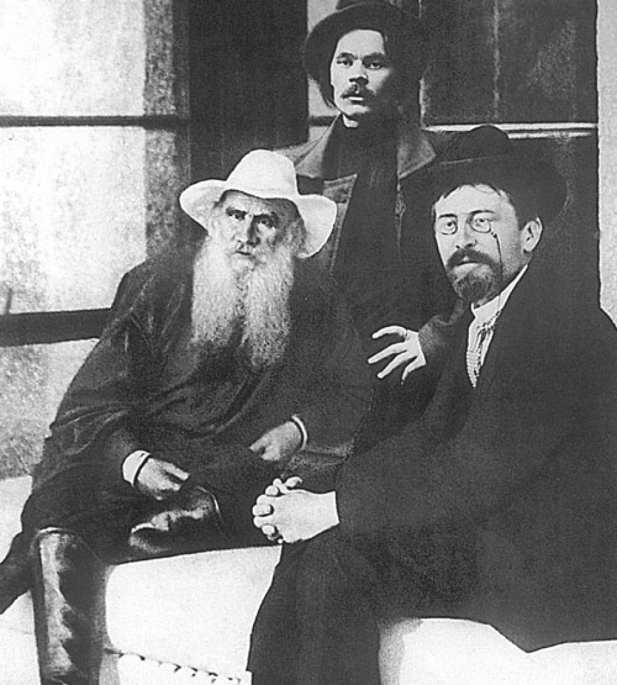 А.П. Чехов, Л.Н. Толстой и М. Горький, конец XIX века